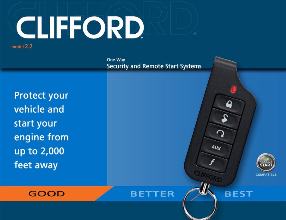 clifford 2 2 matrix car alarm with remote engine start. Black Bedroom Furniture Sets. Home Design Ideas
